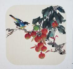 Japanese Painting, Chinese Painting, Japanese Prints, Japanese Art, Asian Artwork, Chibi Food, Chinese Flowers, Chinese Brush, Art Thou
