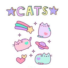 cat, pusheen, and pastel image