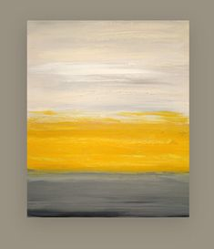 "Acrylic Abstract Painting Original Art on Canvas Titled: Sunny Disposition 30x36x1.5"" by Ora Birenbaum"