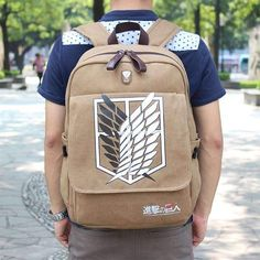 KEY CHOICE Quality Attack on Titan Men Backpack Scouting Legion