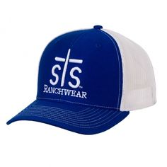STS Puff Cap - Royal Blue / White (Out of Stock) | STS Ranchwear