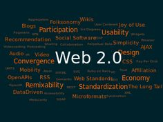 Web 2.0 describes World Wide Web sites that use technology beyond the static pages of earlier Web sites.
