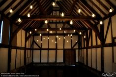 Edison Filament Lamp Canopy | Wedding and Event Lighting by Oakwood Events