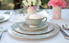 Matching crockery always looks effortlessly chic! | Tea Party Styled Shoot by Catie Ronquillo Photography