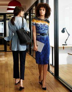 HIT REFRESH | Left: Top, $328, Pants, $348, and Sandals, $398, trade-mark.com; Bag, $3,400, Céline,...
