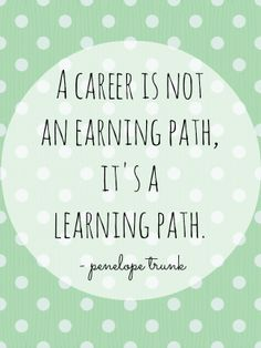 A career is not an earning path, it's a learning path: how to tell people what you do for a living
