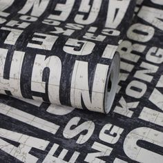 Fashion Vinyl PVC thickened English Letter wallpaper roll for balcony bedroom living room washable wall papers papel de parede