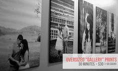 """Make oversized """"gallery"""" prints. Photo Projects, Diy Craft Projects, Engineer Prints, High Tech Gadgets, Photo Displays, Display Photos, Girl Guides, Diy Photo, My New Room"""