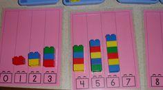 Math centers: Legos