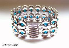 English pattern for the Eyecatcher bracelet par Akkesieraden