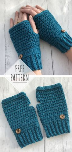 Easy and Quick Fingerless Gloves  CROCHET FREE PATTERNS  - All About Crochet  Crochet Fingerless 9696fb43e532