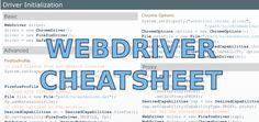 Selenium WebDriver Cheat Sheet