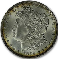 CAC Approved 1898-O Morgan Dollar in a MS67+ PC holder! Us Coins, Rare Coins, Half Dollar, Silver Bars, Larry, Auction, History
