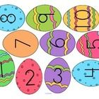 Mini-Center: Match Easter Egg numbers with sets of chicks – cut out the eggs, cover the correct set with the egg.  1-10  Also, the eggs can be used...