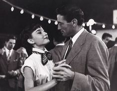 "Dancing with Gregory Peck in a scene from ""Roman Holiday"", 1953"