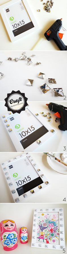 DIY - studded picture frame
