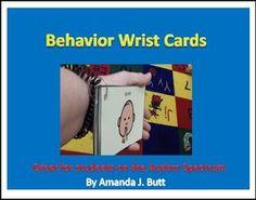 """FREE LESSON - """"Behavior Wrist Cards"""" - Go to The Best of Teacher Entrepreneurs for this and hundreds of free lessons.  Pre-Kindergarten - 12th Grade    http://www.thebestofteacherentrepreneurs.org/2017/03/free-misc-lesson-behavior-wrist-cards.html"""