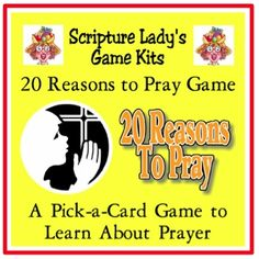 20 Reasons to Pray – Watch this video to learn how to play a fun Bible review game with your children all about prayer. By The Scripture Lady.