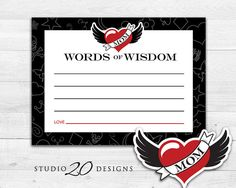 Instant Download Winged Heart Tattoo Advice by Studio20Designs