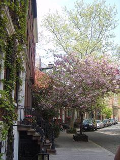 Greenich Village, Grove Street just east of Hudson, NYC