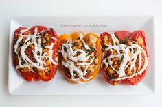 Eating Clean: Turkey & Quinoa Stuffed Peppers (includes marinara sauce recipe) for the perfect meal prep dish. Low fat, low carb meal.