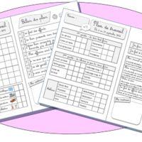 Plan de travail CP Cycle 2, Montessori, Homeschool, Bullet Journal, Classroom, Teacher, Plans, Activities, How To Plan