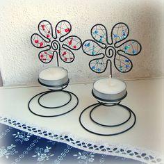 Svietidlá a sviečky - svietnik kvet - 6260133_