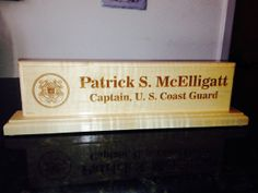 Customized Desk Name Plate by AngledAnchor on Etsy, $35.00