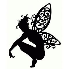 Silhouette Design Store: crouching fairy