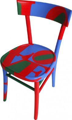 sedia dipinta Love 1