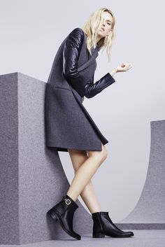 Dune London AW15 Campaign: PADSTON Stitch Detail Buckled Ankle Boot #dune #dunelondon