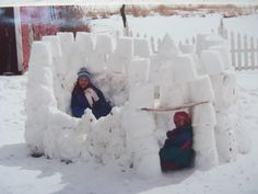 Building amazing snow forts!