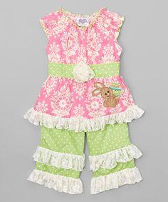 Pink Easter Damask Tunic & Pants - Infant, Toddler & Girls