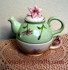 ceramic tea pot for one