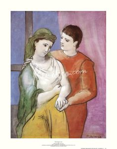 Lovers Fine-Art Print by Pablo Picasso at Picasso.com