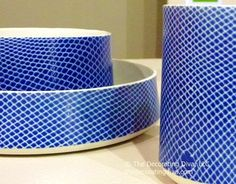Striking Blue Pottery | TheDecoratingDiva.com