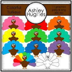 $ Colorful Turkeys: Graphics for Commercial Use