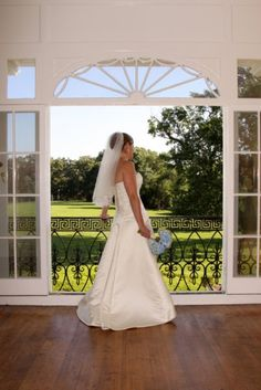 Bride at Glenview Mansion on the floor front porch. Glenview Mansion, Center Park, Formal Gardens, 2nd Floor, Be Perfect, Front Porch, One Shoulder Wedding Dress, Special Occasion, Dreams