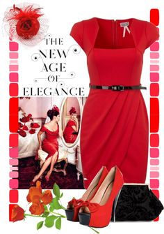 """""""Red Hat"""" by lmm2nd on Polyvore"""