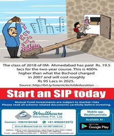 Systematic Investment plan is Nothing but Systematic investment process in which we can invest Fixed amount on a regular interval of time.Start an SIP Today for better future of your Family.