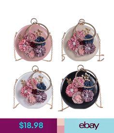 Women's Bags & Handbags Floral Mini Circle Clutch Evening Bag Lady Round Makeup Minaudiere Purse Handbag #ebay #Fashion