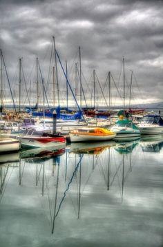 Douglas harbour, Isle of Man.