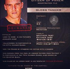 Citizen of Panem Registration Card : Gloss Tanner