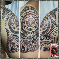 #maori #tattoo #tatuaje #tattooarteypiel #leviathoth #aguascalientes #mexico #rojoynegro