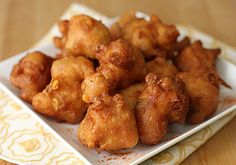 beer battered corn fritters!