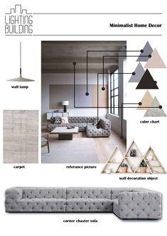 Minimalist Home Decor Interior Design Guide, Interior Design Boards, Modern Interior Design, Interior Architecture, Furniture Design, Modern Small House Design, Interior Design Presentation, Architecture Visualization, Interior Concept
