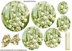 PRETTY LILY OF THE VALLEY OVAL PYRAMIDS on Craftsuprint - Add To Basket!