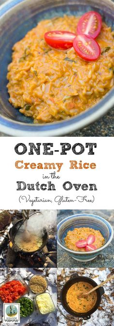 one pot creamy rice recipe for the dutch oven this healthy rice dish is