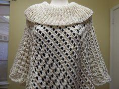 Capa triangular paso a paso la puede tejer en cualquier tamaño y el cuello a la medida que le guste