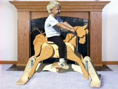 19-w2330 - Rocker Horse Glider Woodworking Plan - Woodworkersworkshop® Online…
